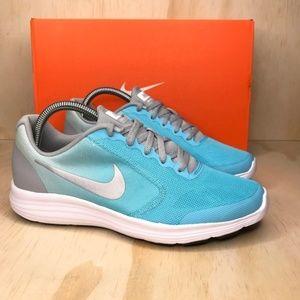 NIB Nike Revolution Three Blue Gray
